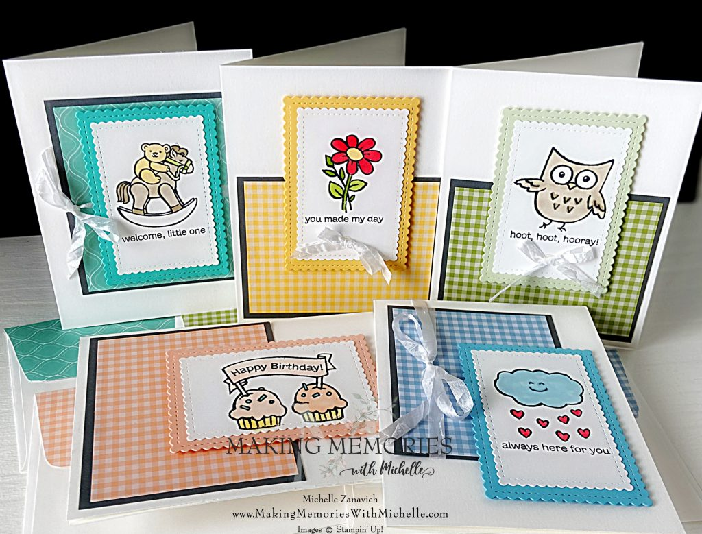 Making Memories with Michelle 5 Easy Cards