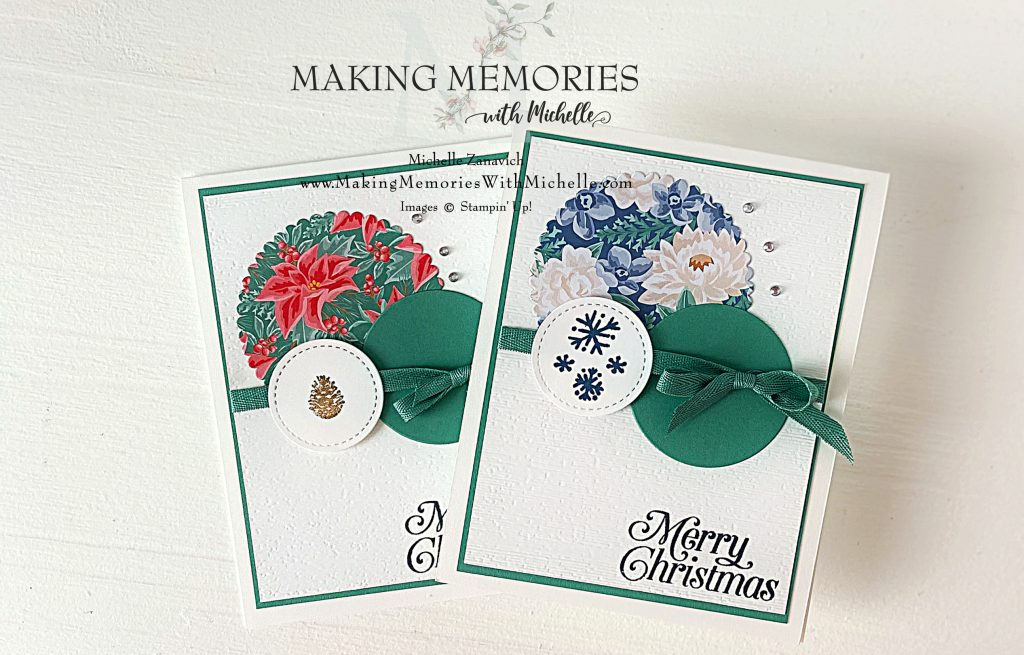 Making Memories with Michelle Flowers Christmas Cards