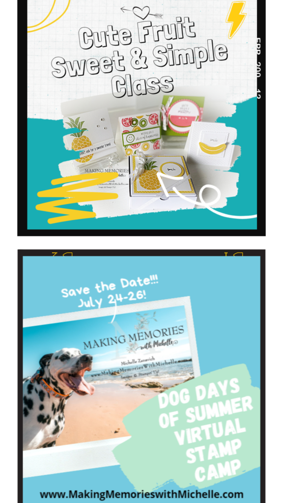 Making Memories with Michelle Classes