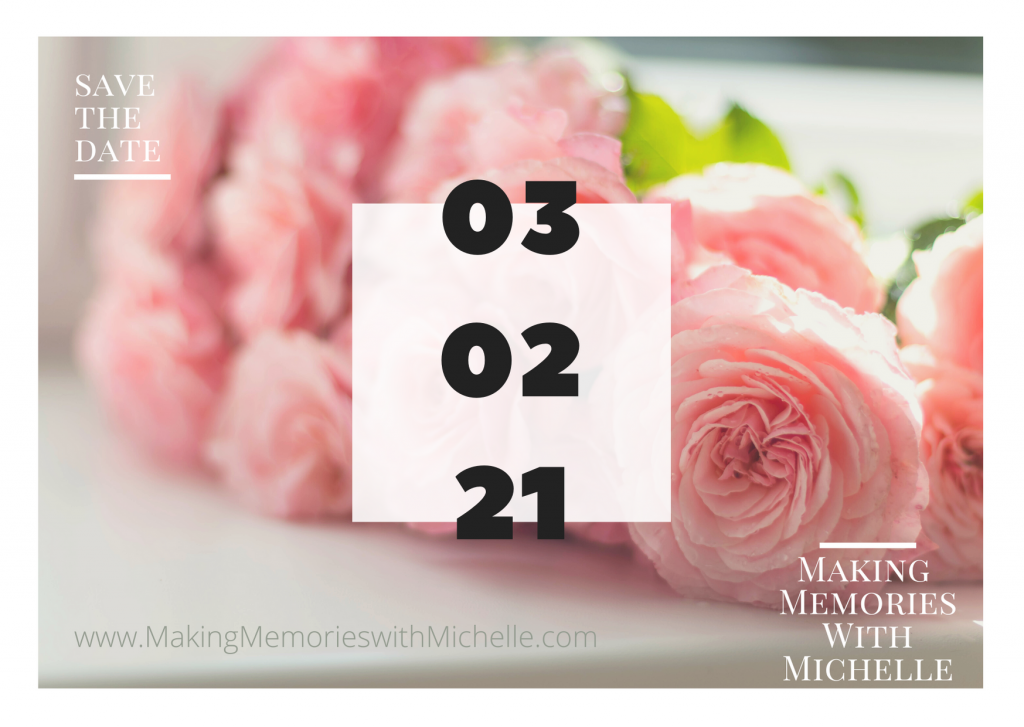 Making Memories with Michelle Save the Date